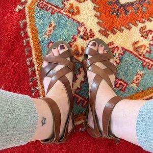J. Crew Gladiator Leather Sandals